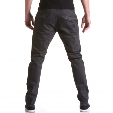 Мъжки сив панталон с декоративни кръпки Y-Two 5