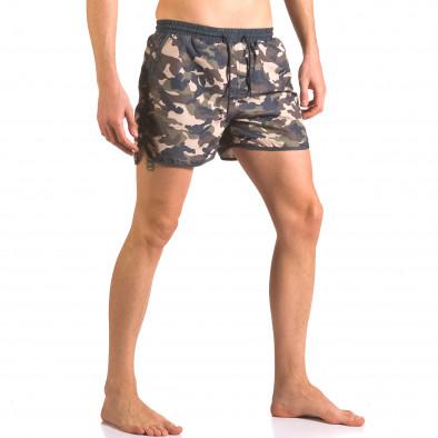 Мъжки бански шорти зелено-син камуфлаж ca050416-1 4