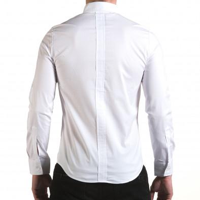 Мъжка бяла риза с цип il170216-91 3