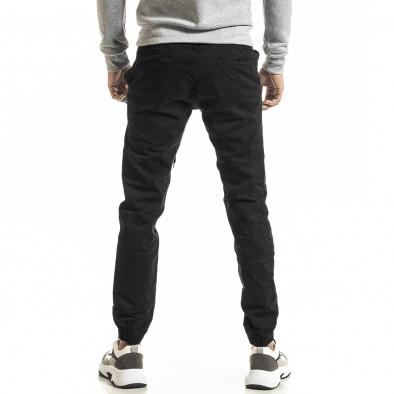 Мъжки черен панталон Jogger tr031220-1 3