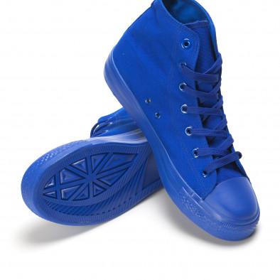 Мъжки високи сини кецове с гумена част отпред it090616-29 4