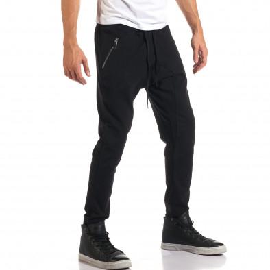 Мъжки черни потури със сребристи ципове it160916-48 4