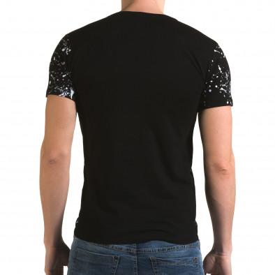 Мъжка черно-бяла тениска Represent Lagos 4