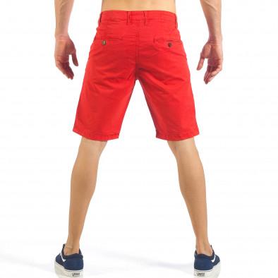 Мъжки червени къси панталони с италиански джобове it260318-138 3