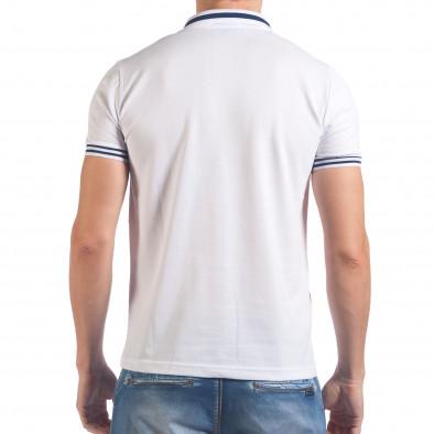 Мъжка бяла тениска с яка F Coach il060616-107 3