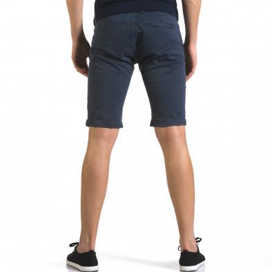 Мъжки сини къси панталони с фин принт по плата it110316-49 3