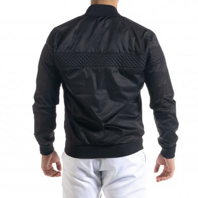Леко мъжко яке-бомбър в черно tr110320-101 3