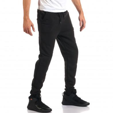 Мъжко черно долнище с нестандартни джобове it160916-42 4
