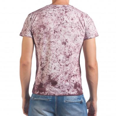 Мъжка червено-бяла тениска с голям орел il060616-44 3