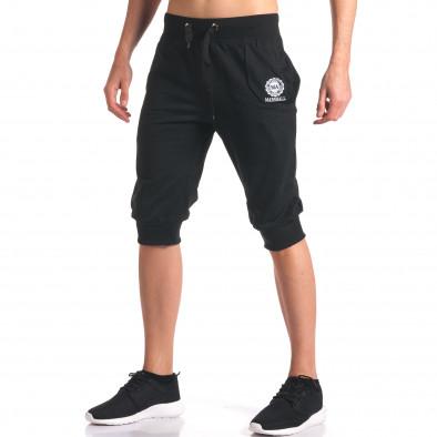 Мъжки черни къси потури със странични джобове it250416-13 4