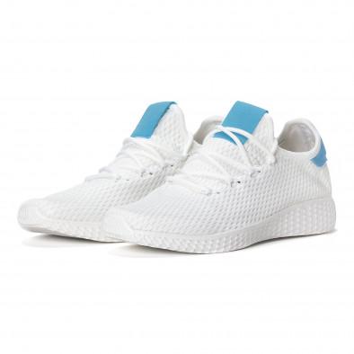 Мъжки синьо-бели леки маратонки  it240418-27 3