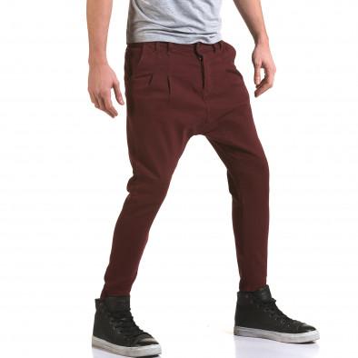 Мъжки червени дънки с кройка на потури it090216-21 4