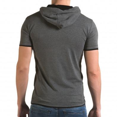 Мъжка сива тениска с качулка Lagos 4