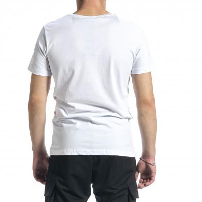 Мъжка бяла тениска My Story tr270221-41 3