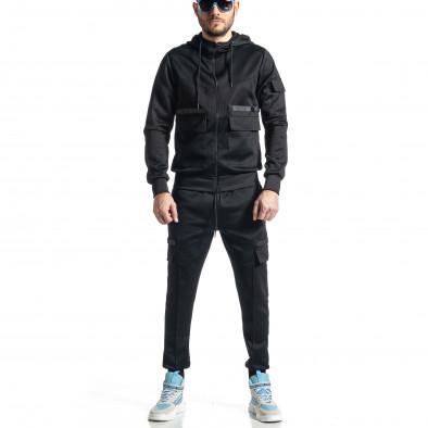 Мъжки черен спортен комплект 7джоба it010221-55 2