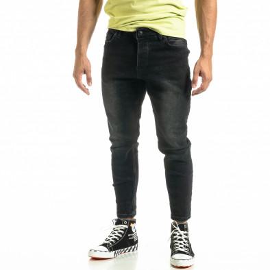 Мъжки черни дънки Cropped Carrot tr020920-12 2