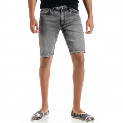 Big Size Basic мъжки сиви къси дънки tr010720-19 2