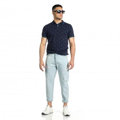 Loose fit мъжки сини дънки с прокъсвания it150521-40 4