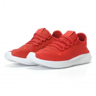 Мъжки червени маратонки олекотен модел it110817-72 3