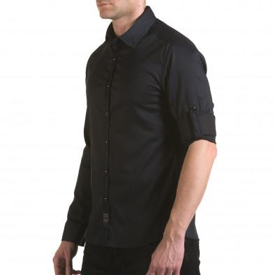 Мъжка черна риза с малки разноцветни детайли il170216-114 4