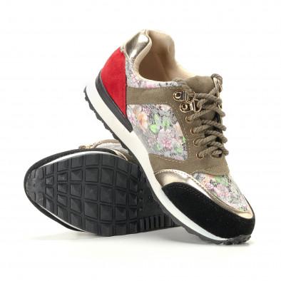 Дамски маратонки на цветя с дантела it200917-53 4