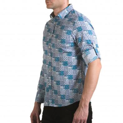 Мъжка зелено-сива риза Jeanscollic 5