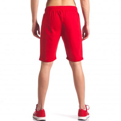 Мъжки червени шорти за спорт с номер it260416-22 3