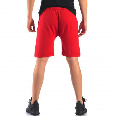 Мъжки червени шорти със златна звезда it160616-14 3