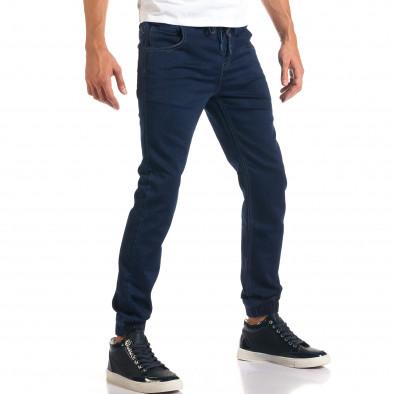 Мъжки тъмно сини дънки с ластик на кръста it160916-7 4