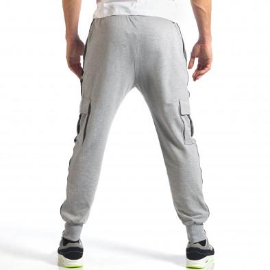 Мъжко сиво долнище с карго джобове it290118-75 4