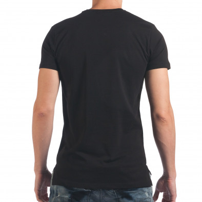 Мъжка черна тениска с череп il060616-33 3