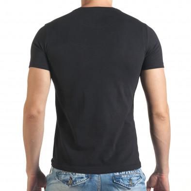 Мъжка черна тениска с номер 3 и щампа il140416-34 3