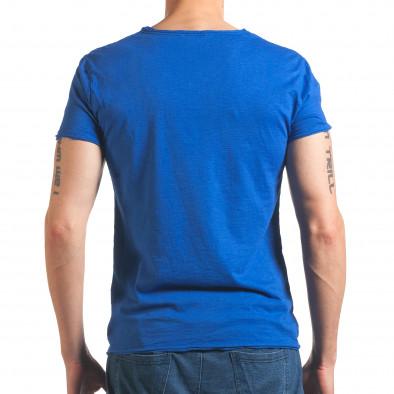 Мъжка синя тениска изчистен модел it260416-47 3