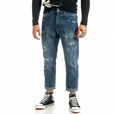 Loose fit Destroyed мъжки сини дънки it020920-14 3