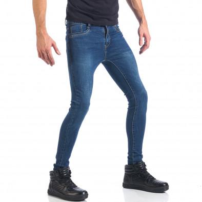 Мъжки дънки супер слим фит изчистен модел it041217-48 4