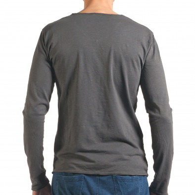 Мъжка сива блуза с дълъг ръкав it260416-50 3