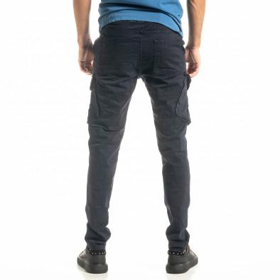 Мъжки син Cargo панталон с прави крачоли tr300920-7 3
