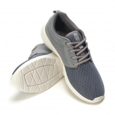 Мъжки сиви маратонки олекотен модел it090616-3 4