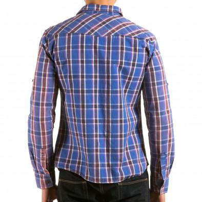 Мъжка синя карирана риза il180215-186 3