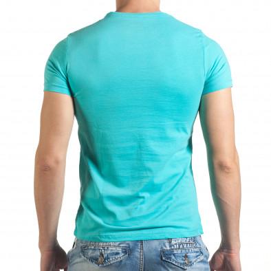 Мъжка синя тениска с голям надпис il140416-43 3