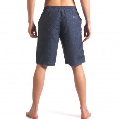 Мъжки сиво-сини бански с надпис Austar Jeans 4