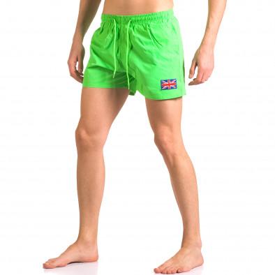 Зелени бански тип шорти с джобове ca050416-8 4