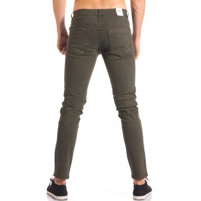 Мъжки зелен спортно-елегантен панталон it150816-5 3