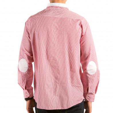 Мъжка червено-бяла раирана риза il180215-178 2