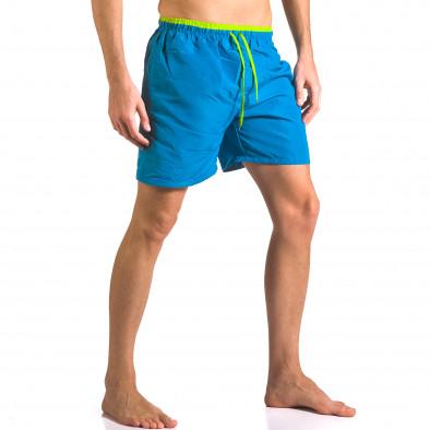 Мжки светло сини бански тип шорти с джобове отпред ca050416-24 4