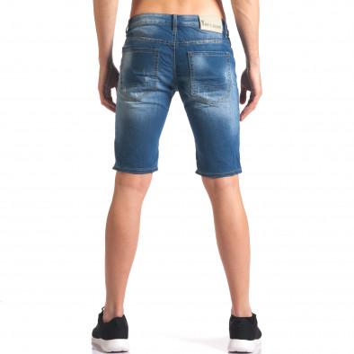 Мъжки къси дънкови панталони с джобове it250416-33 3