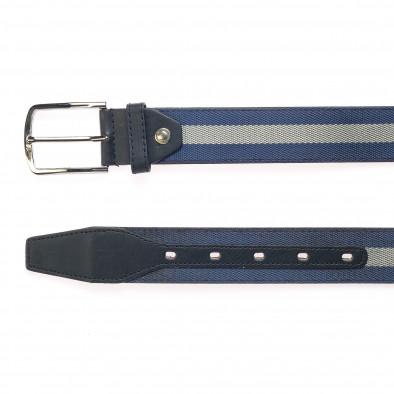 Мъжки тъмно син колан със сива лента it250915-15 2