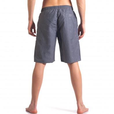 Мъжки сиви бански с надпис Austar Jeans 4