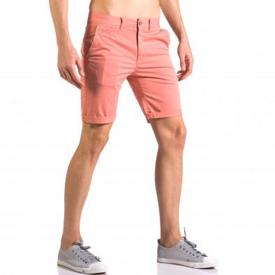 Червени мъжки къси панталони с италиански джобове ca050416-60 4