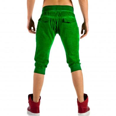 Мъжки зелени къси панталони с изтрит ефект ca100514-16 3